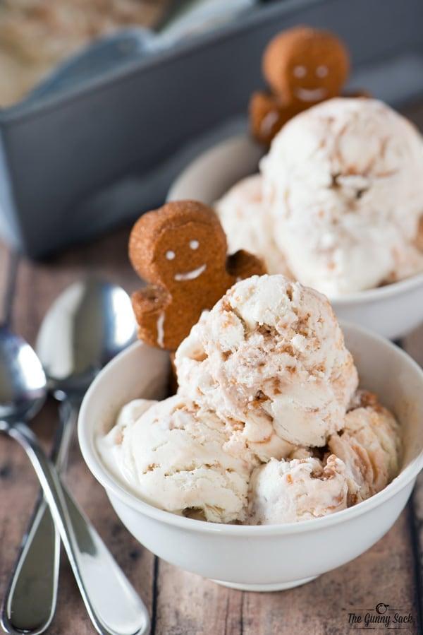 No Churn Gingerbread PEEPS Ice Cream