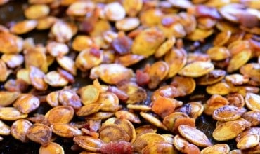 Bacon Roasted Pumpkin Seeds