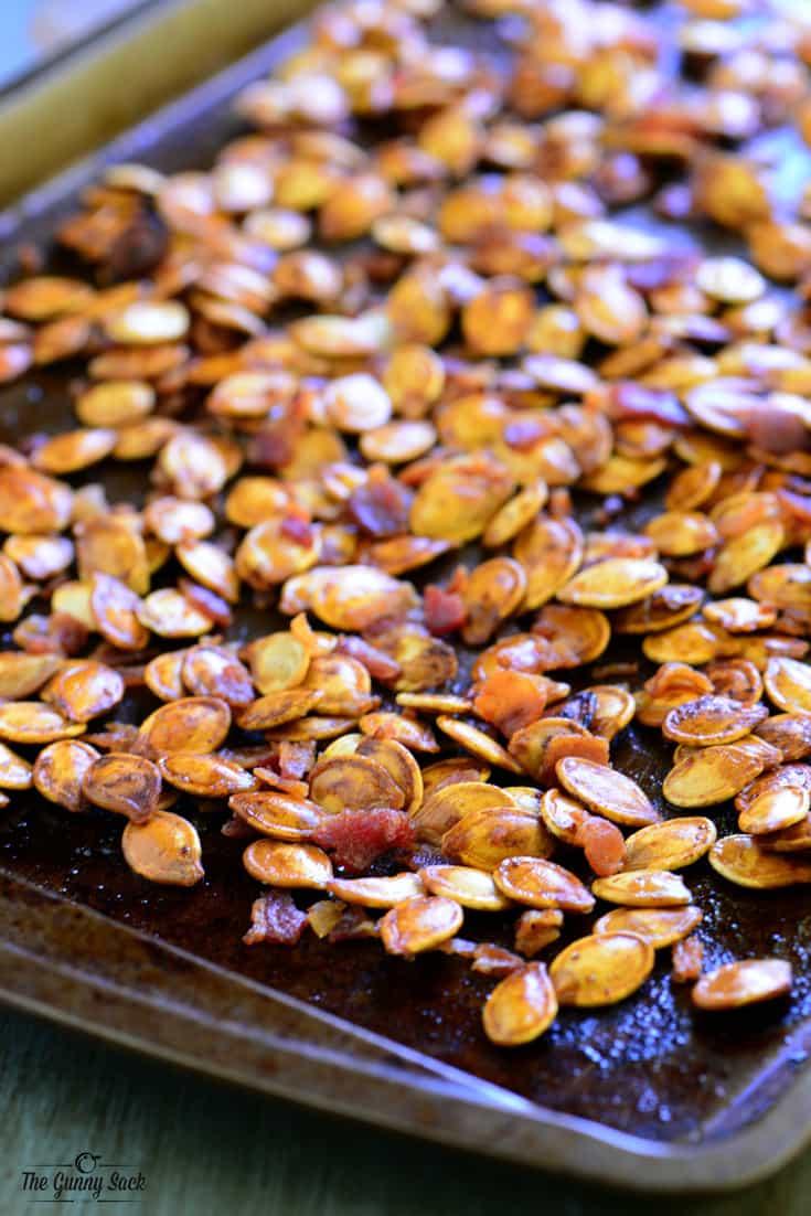 Bacon Roasted Pumpkin Seeds