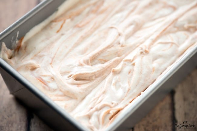 Marshmallow Gingerbread Swirled Ice Cream
