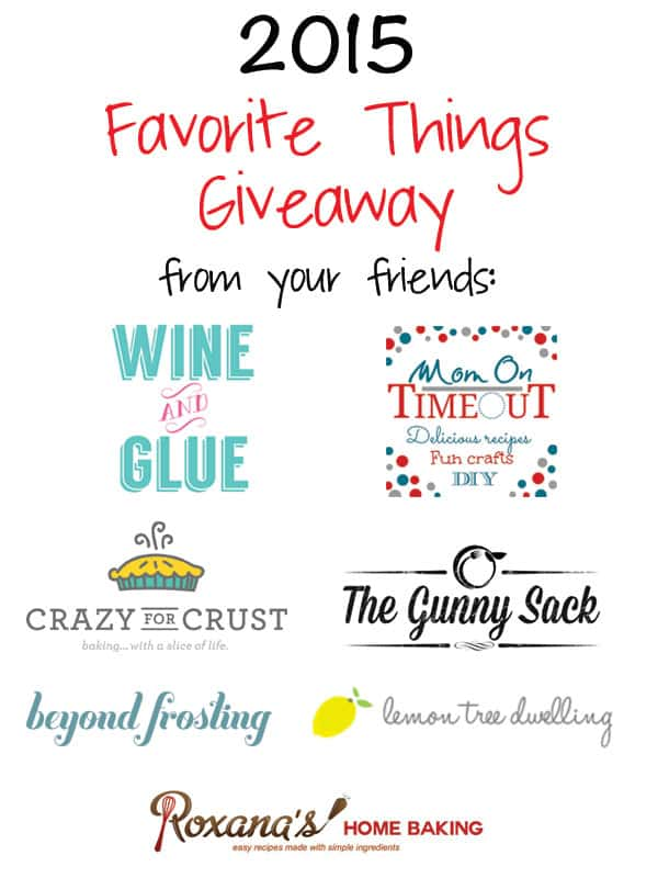 2015 Favorite Things Giveaway