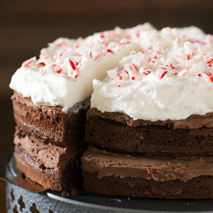 Chocolate Mocha Peppermint Cake