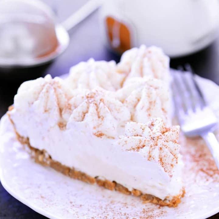 No Bake Eggnog Cheesecake Recipe | The Gunny Sack