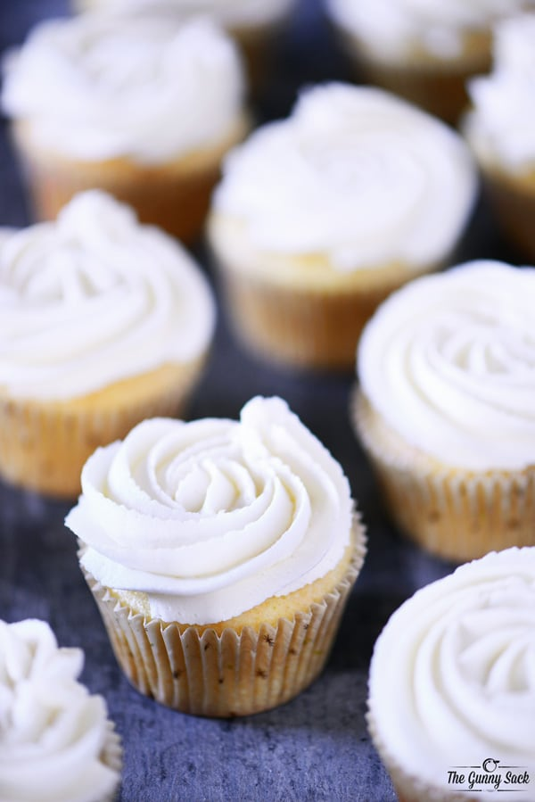 Frosted Vanilla Cupcakes