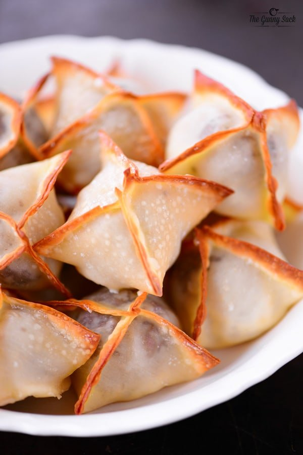 Baked Meatball Wontons Recipe