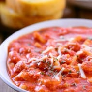 Cheesy Pizza Soup Recipe
