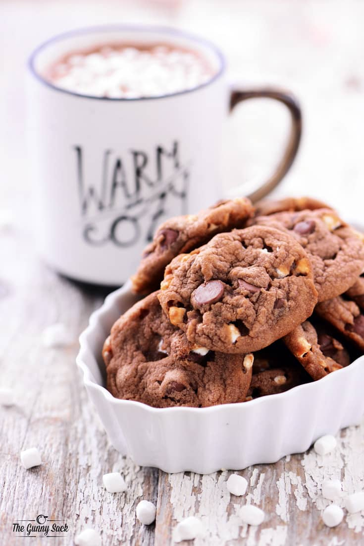 Hot Chocolate Cookies Recipe - The Gunny Sack