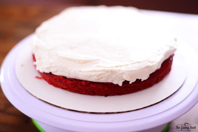 Cream Cheese Whipped Cream Frosting On Cake