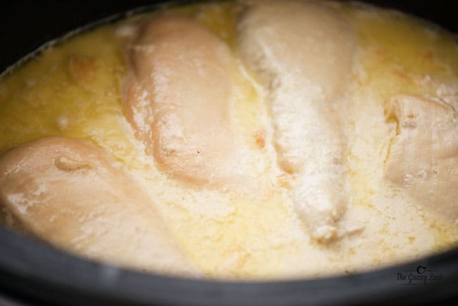 Slow Cooker Alfredo Chicken