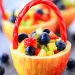 This fun Apple Fruit Basket recipe is a great way to make a healthy Easter basket!