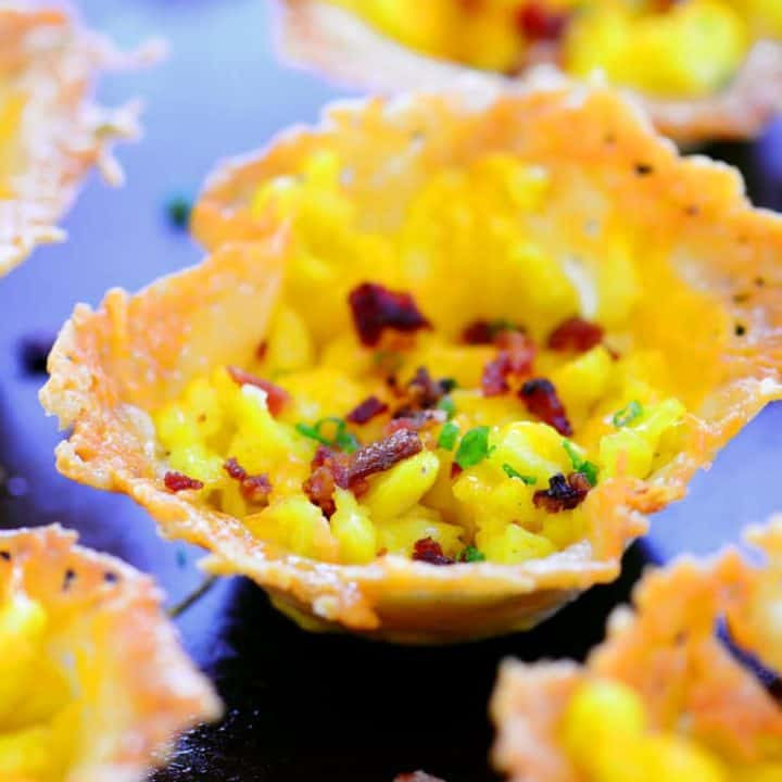 Bacon Egg and Cheese Parmesan Cups