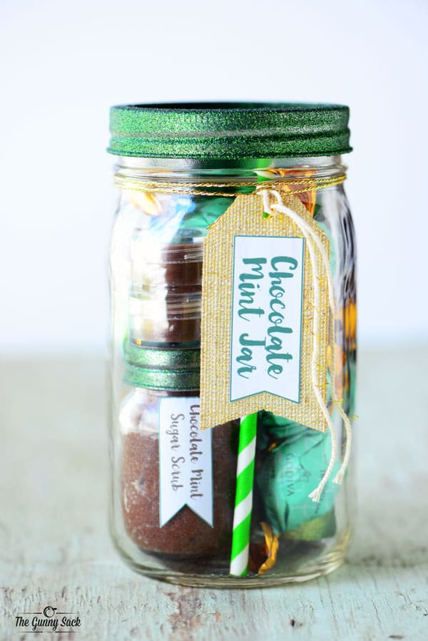 Chocolate Mint Mason Jar Gift Idea