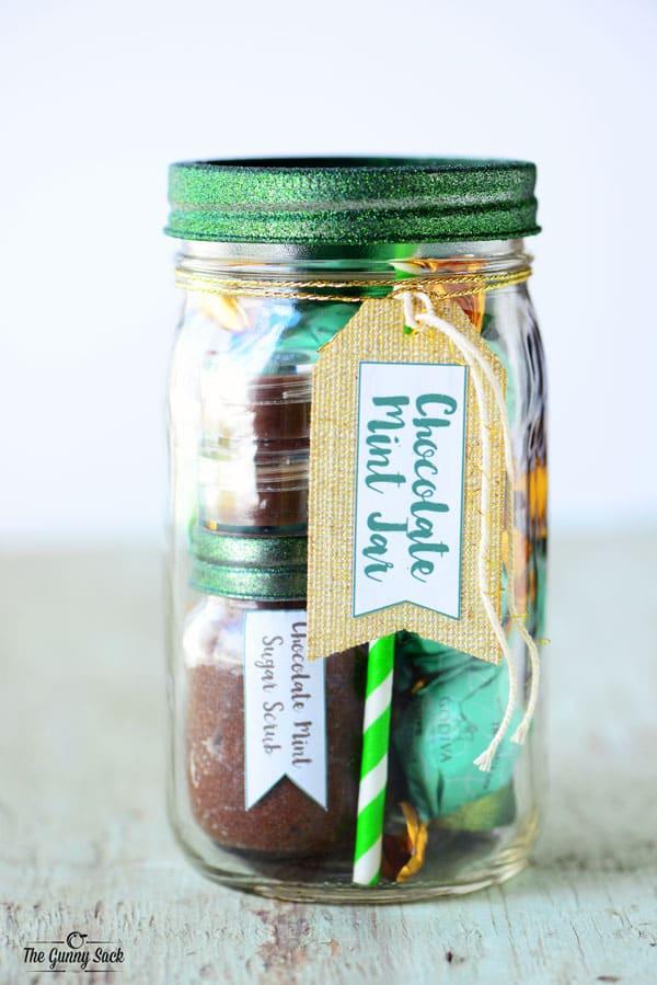 Chocolate Mint Mason Jar Gift Idea