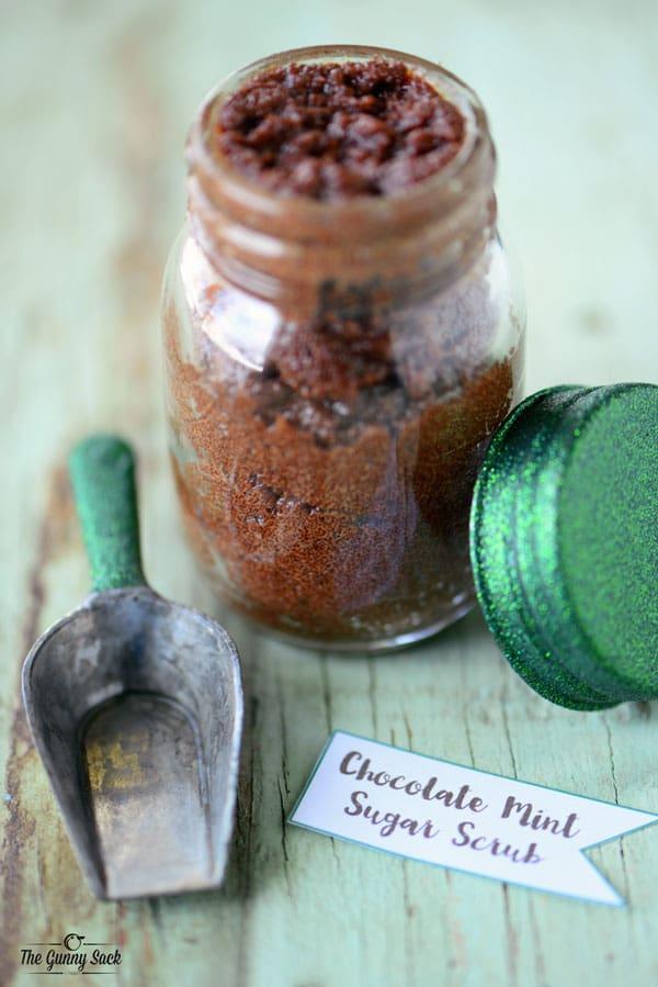 Mint Chocolate Mint Sugar Scrub Jar