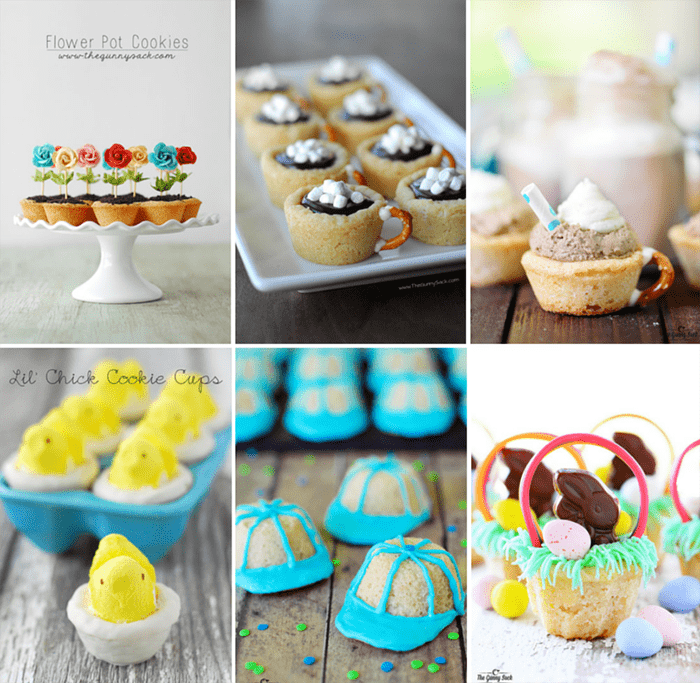 cookie cups collage
