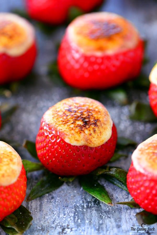 Caramel Brulee Cheesecake Strawberries Recipe