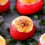 Caramel Brulee Cheesecake Stuffed Strawberries Recipe