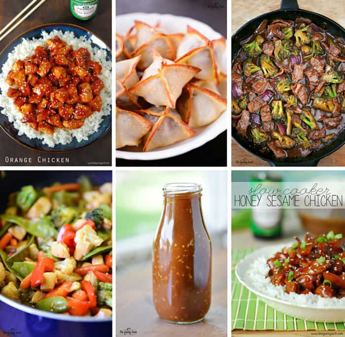 asian recipes collage