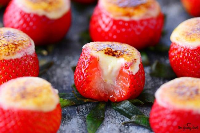 Creme Brulee Cheesecake Strawberries