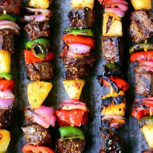 Hawaiian Steak Kabobs Recipe