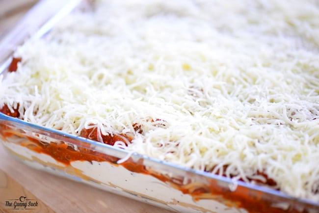 Layered Baked Spaghetti
