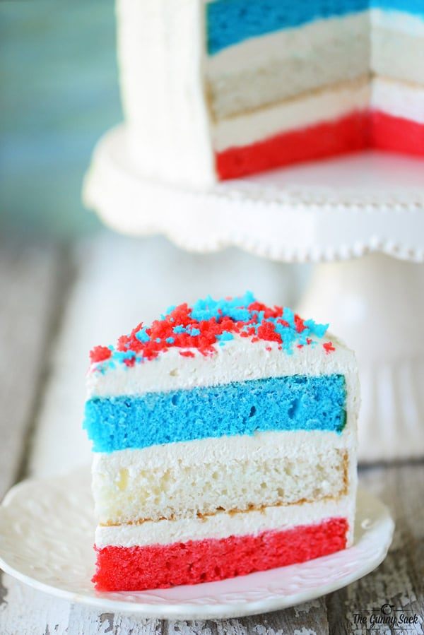 Fourth of July Cake Slice