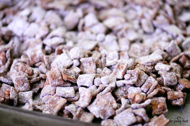 powdered sugar on chex