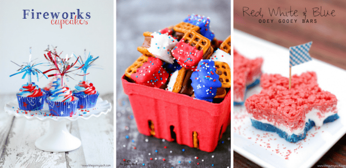 red white and blue recipes collage
