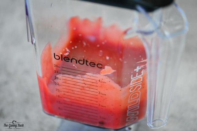 Blended Strawberry Sauce