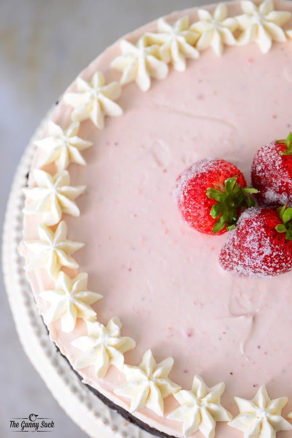 Strawberry Cheesecake Chocolate Crust