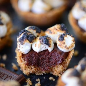 No Bake S'mores Cookie Cups