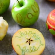 Fall Apple Carving