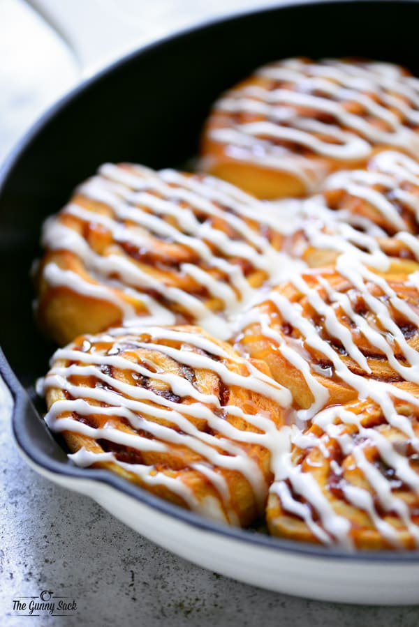 Crescent Roll Pumpkin Cinnamon Rolls