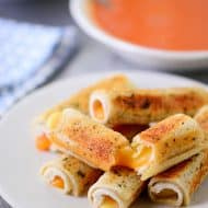 Parmesan-Crusted Grilled Cheese Rolls
