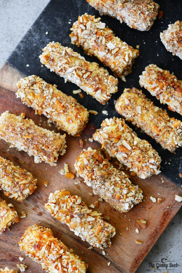 Pretzel Crusted Mozzarella Cheese Sticks Recipe