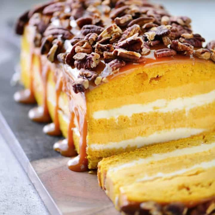 Pumpkin Pecan Ice Cream Loaf Cake Recipe