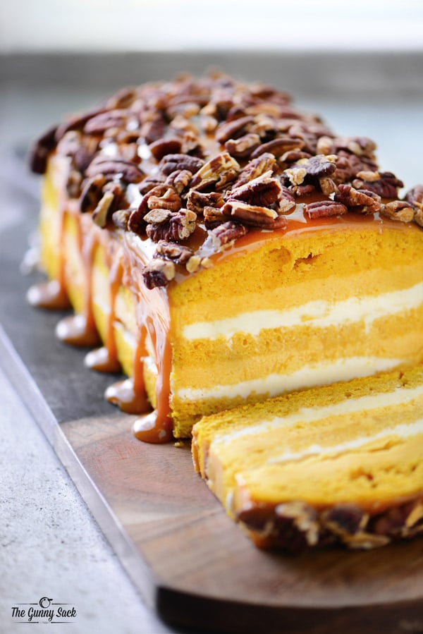 Pumpkin Pecan Ice Cream Loaf Cake