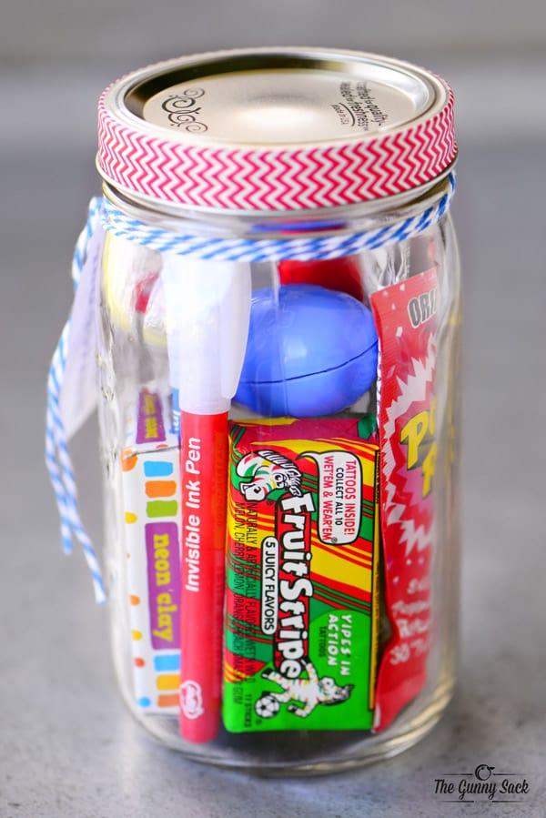 Boredom Buster Mason Jar Gift Idea