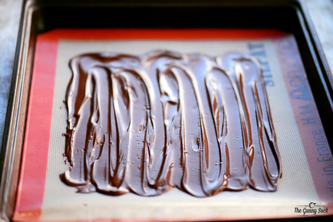 Chocolate Layer of Peppermint Swirl Bark