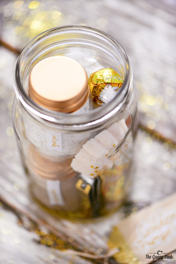 Fill Golden Mason Jar