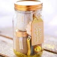 Golden Pampering Mason Jar Gift
