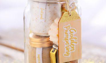 Golden Pampering Mason Jar Gift