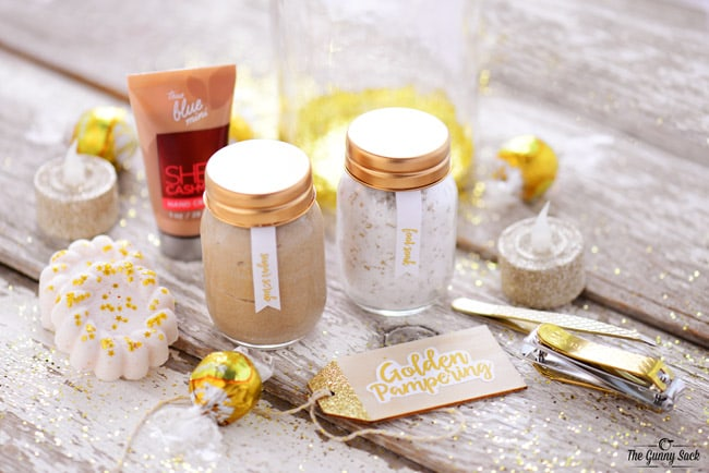 Golden Pampering Jar Supplies