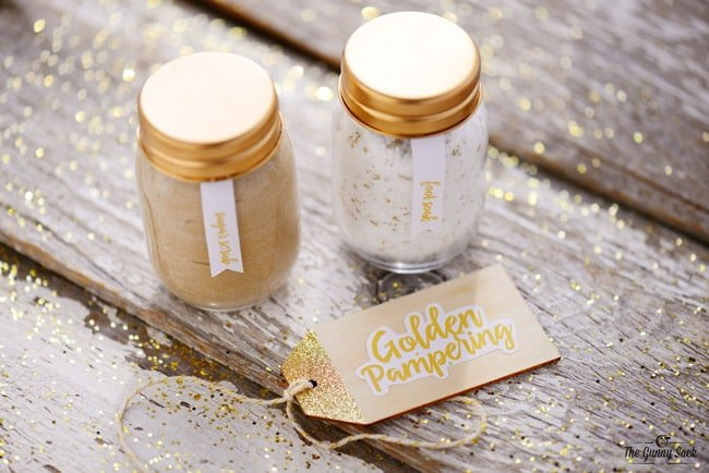 Golden Pampering Spa Jars