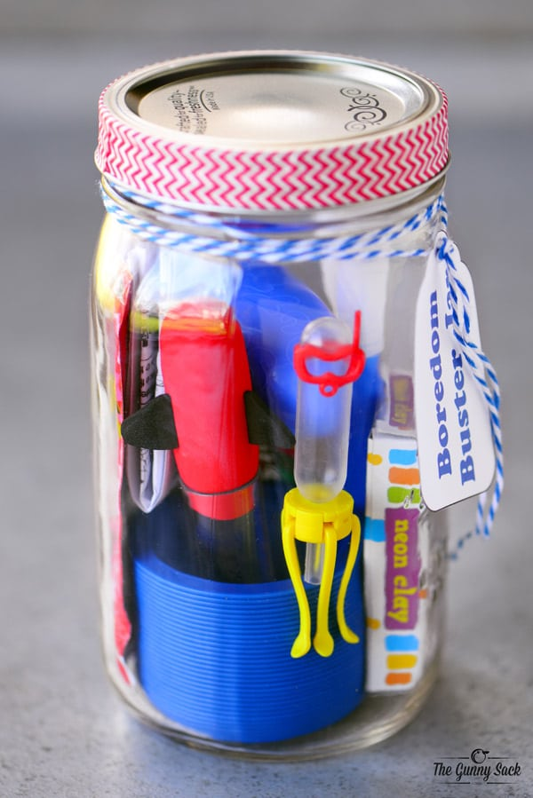Kids Toys in Mason Jar