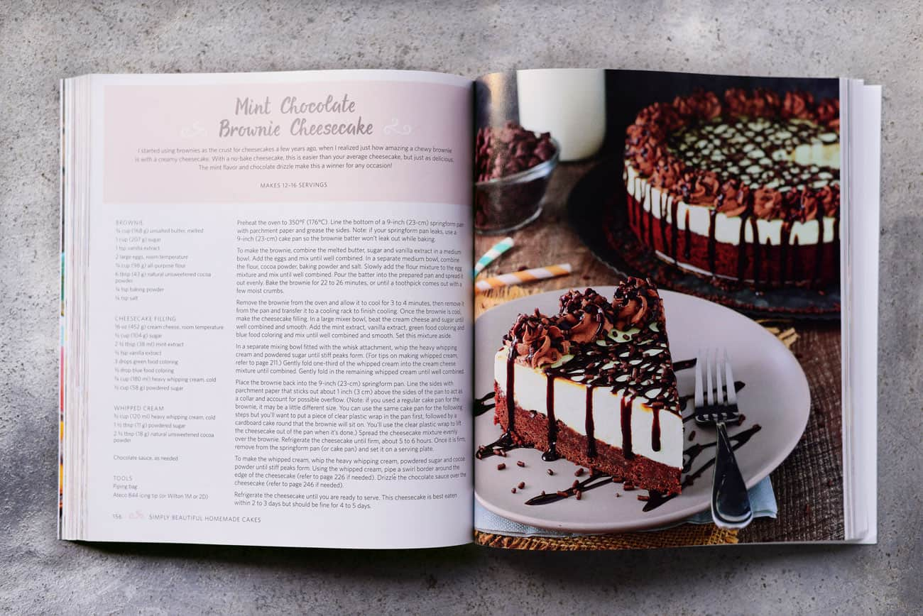mint chocolate brownie cheesecake recipe from book
