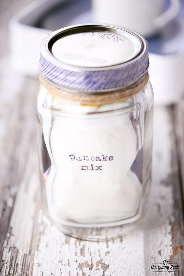 Pancake Mix For Rise and Shine Mason Jar