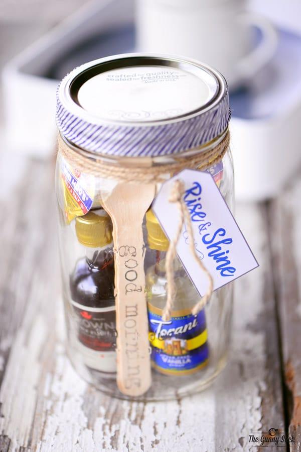 Rise and Shine Mason Jar Gift