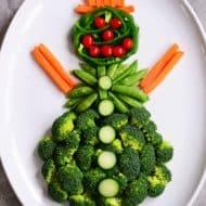 Snowman Veggie Tray