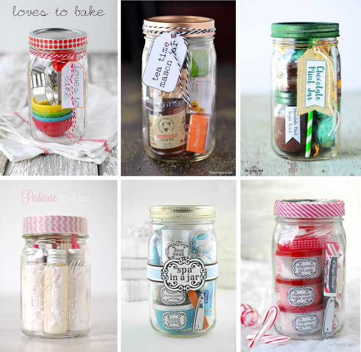 mason jar gifts collage